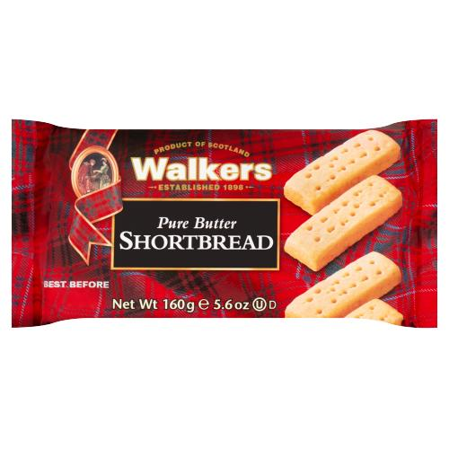 Walkers Pure Butter Shortbread 160g