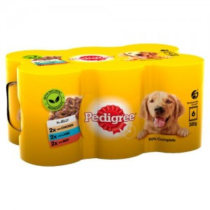 Pedigree Wet Dog Food Tins Mixed Selection in Jelly 6 x 385g