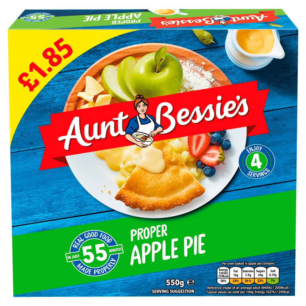 Aunt Bessie's Proper Apple Pie 550g