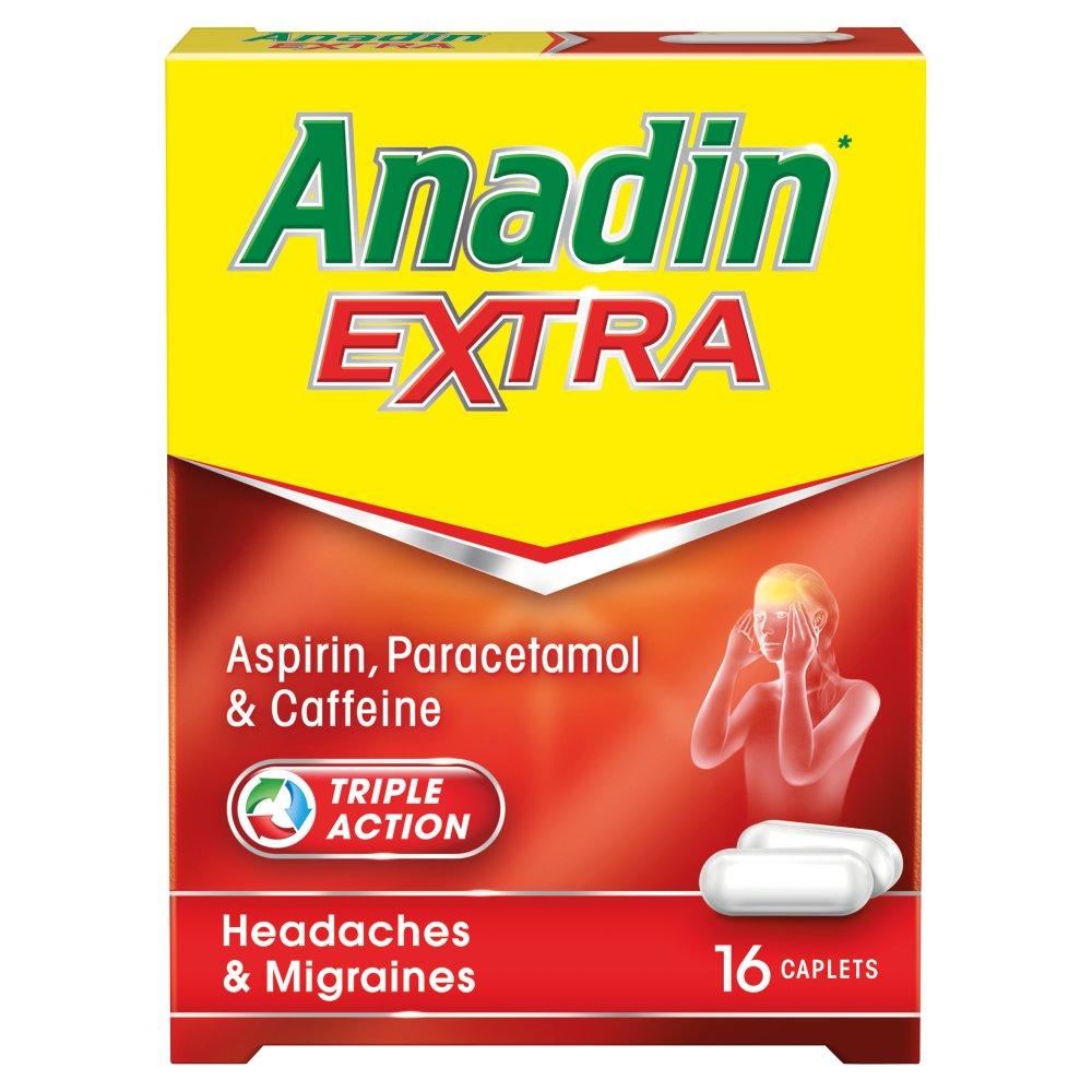 Anadin Extra Aspirin, Paracetamol & Caffeine 16 Caplets