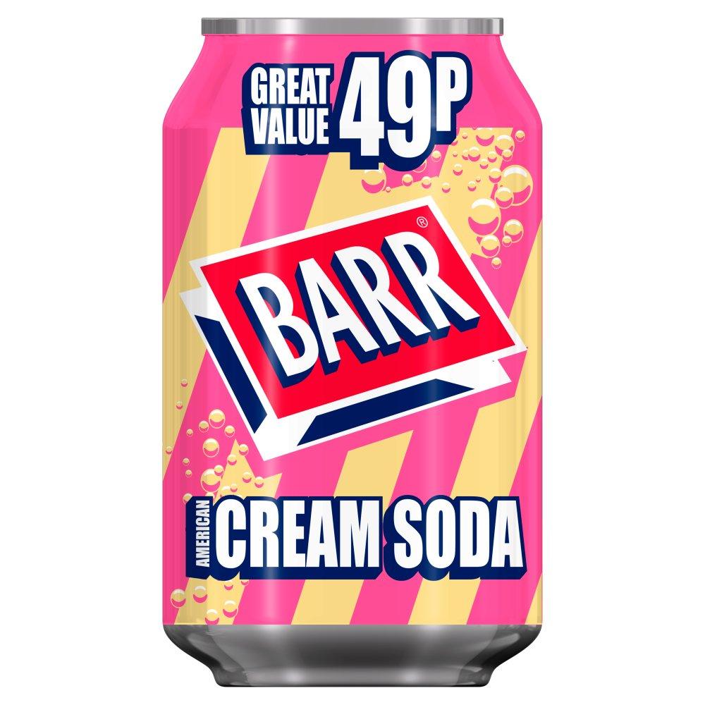 Barr American Cream Soda 330ml Can