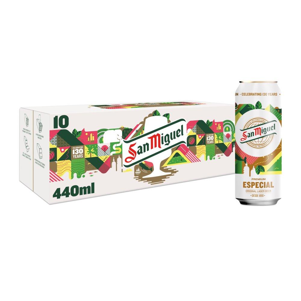 San Miguel Premium Lager Beer 10 x 440ml