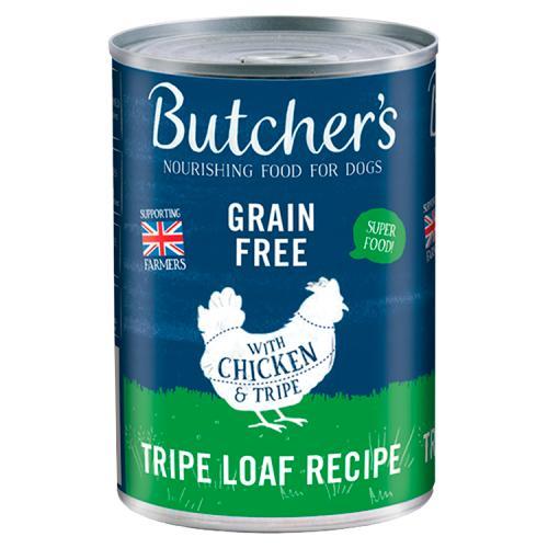 Butcher's Chicken & Tripe Loaf Recipe Dog Food Tin 400g