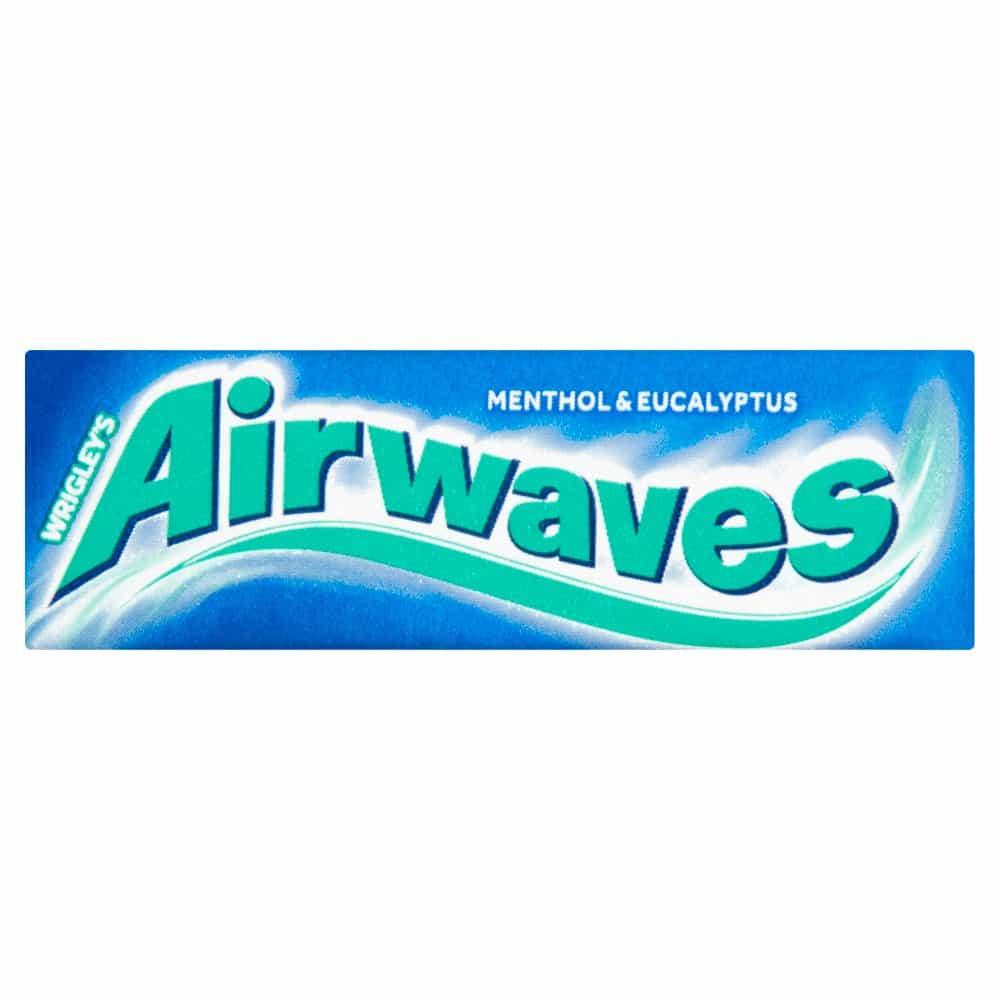 Airwaves Menthol & Eucalyptus Sugar Free Chewing Gum 10 Pieces