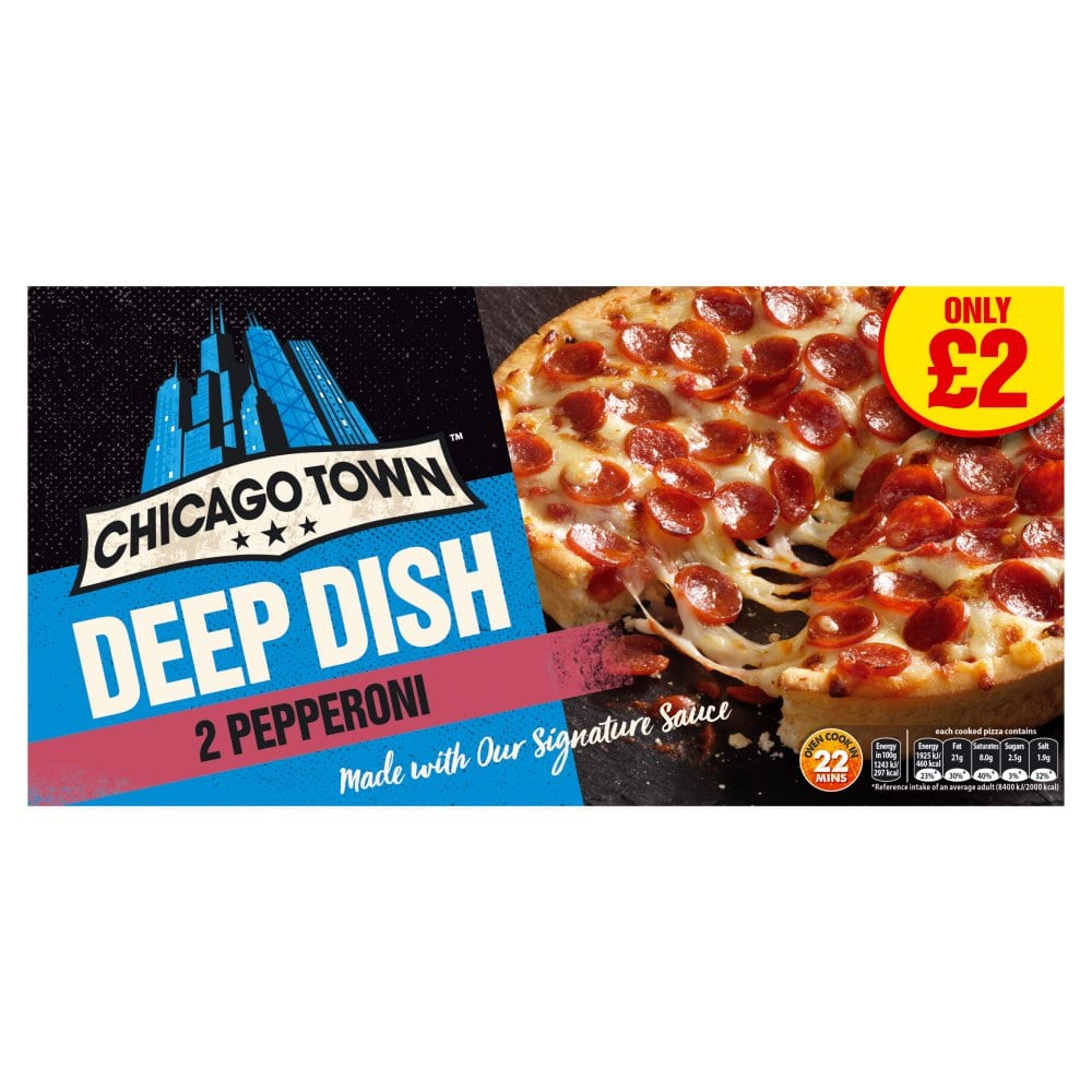 Chicago Town 2 Deep Dish Pepperoni Pizzas 320g