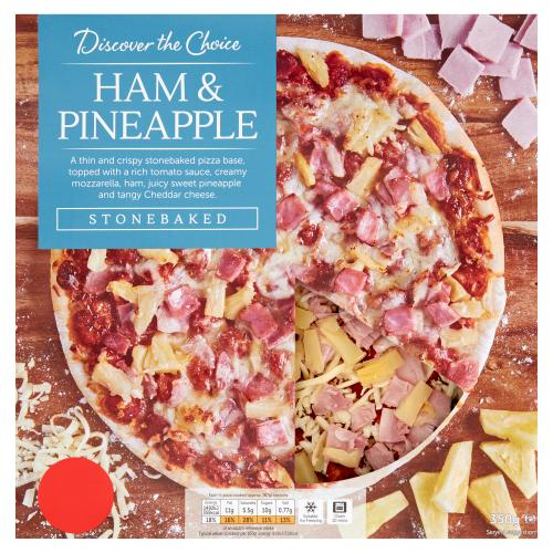 Discover the Choice Ham & Pineapple Pizza 350g