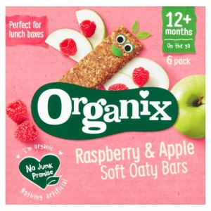 Organix Raspberry & Apple Organic Soft Oat Snack Bars Multipack 6 x 30g