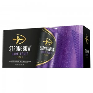 Strongbow Dark Fruit Cider 10 x 440ml Cans