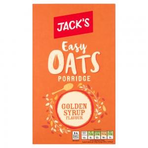 Jack's Easy Oats Porridge Golden Syrup Flavour 10 x 39g (390g)