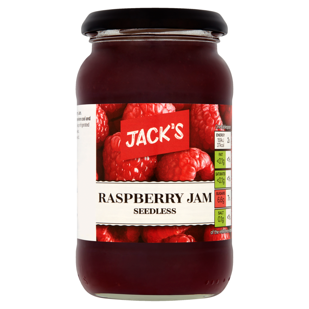 Jack's Seedless Raspberry Jam 454g