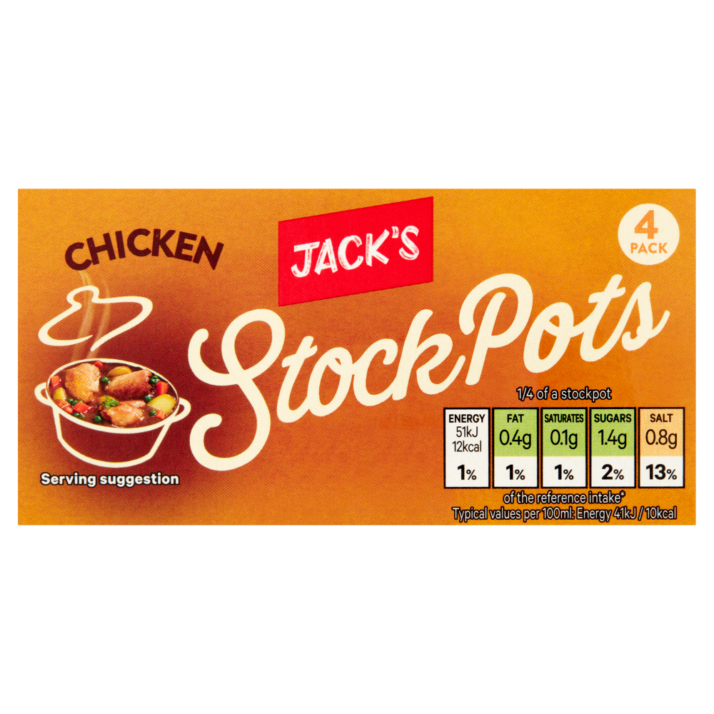 Jack's Chicken Stock Pots 4 x 28g (112g)