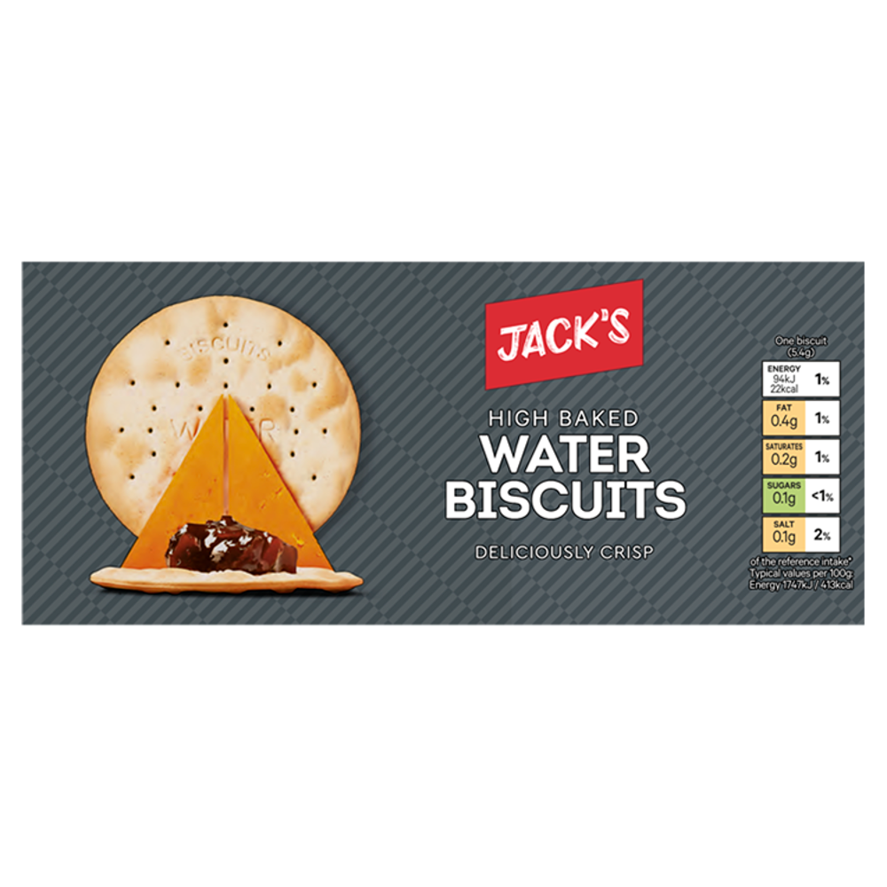 Jack's 8 High Baked Water Biscuits 512g