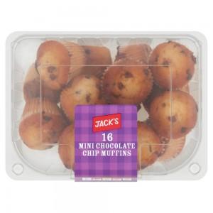 Jack's 16 Mini Chocolate Chip Muffins