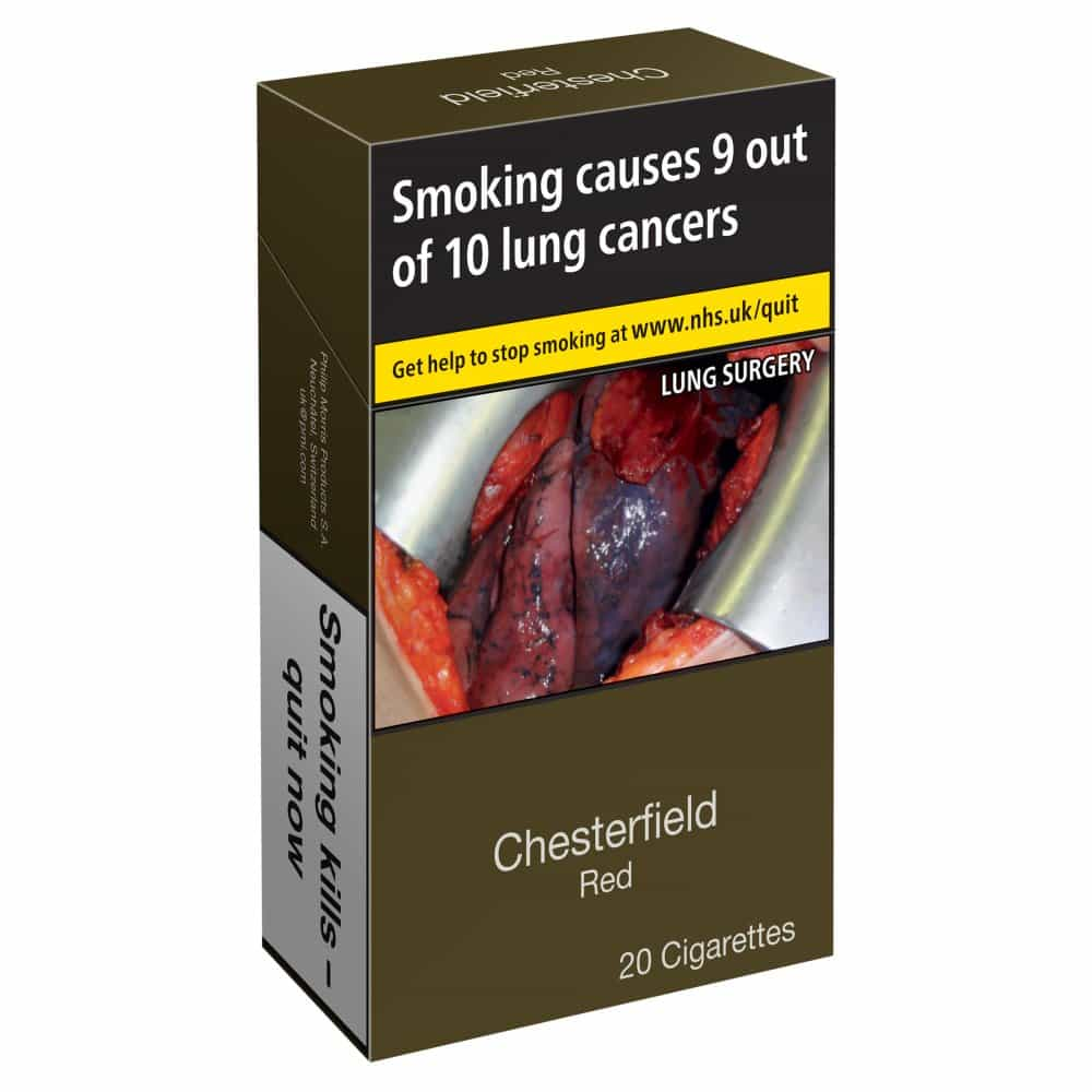Chesterfield Red Cigarettes