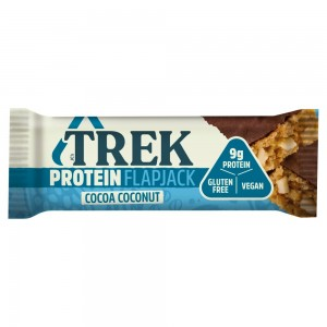 Trek Cocoa Coconut Protein Flapjack Chocolate Flavour Topped 50g