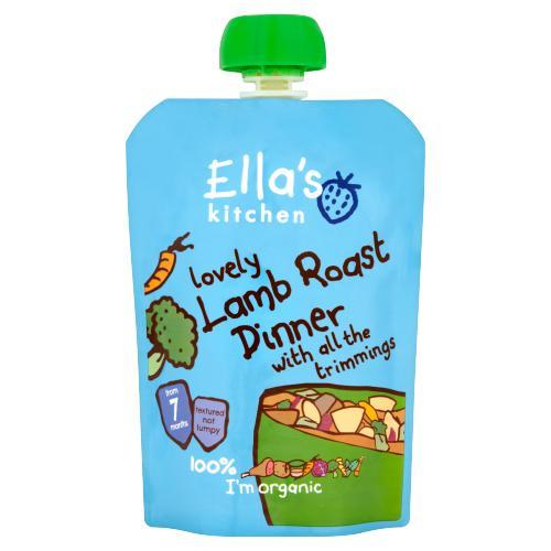 Ella's Kitchen Organic Lamb Roast Dinner Baby Pouch 7+ Months 130g