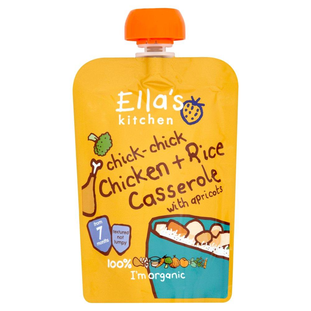 Ella's Kitchen Organic Chicken and Rice Casserole Baby Pouch 7+ Months 130g