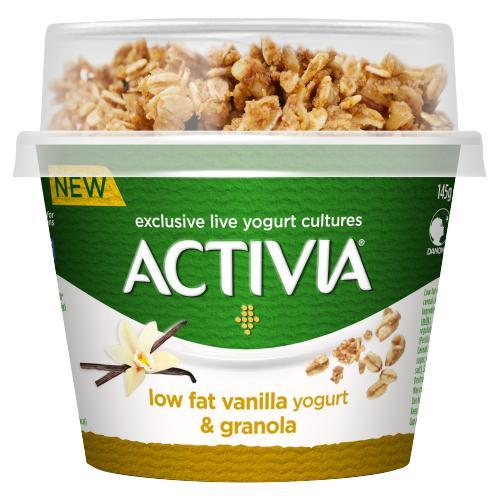 Activia Low Fat Vanilla Yogurt & Granola 165g