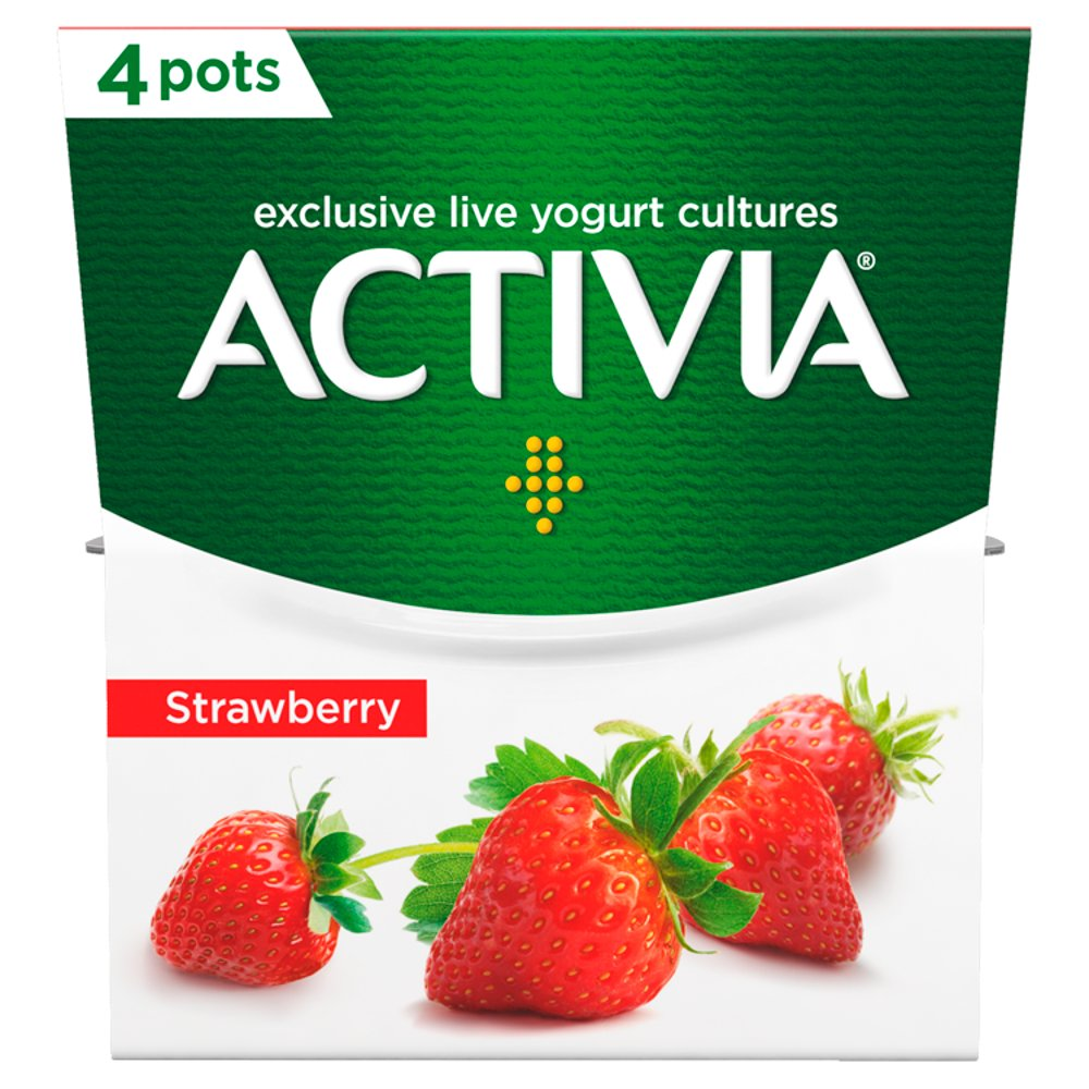 Activia Strawberry Yogurt 4 x 120g (480g)