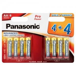 Panasonic Pro Power AA Batteries Alkaline 8pk 4+4F