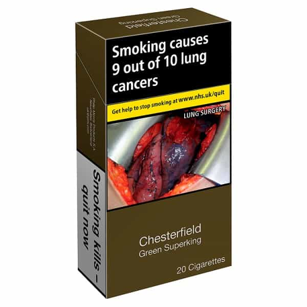 Chesterfield Cigarettes Green Superking