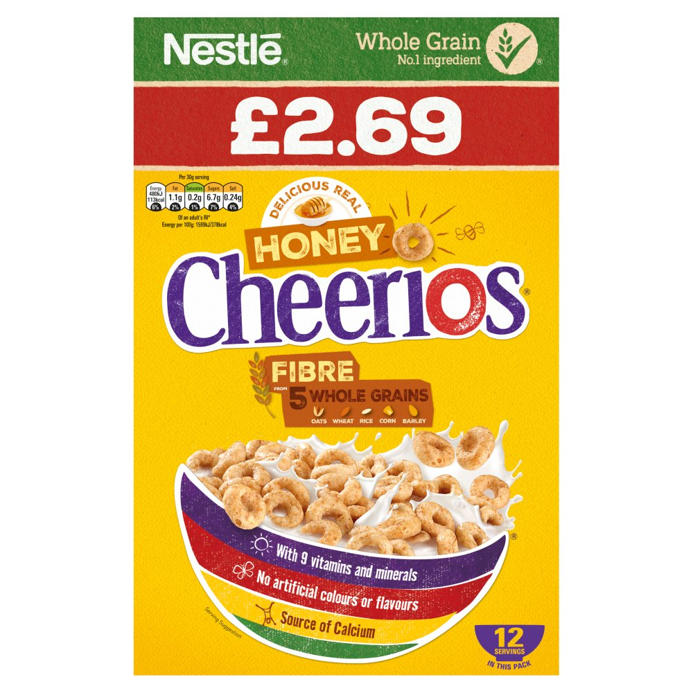 Cheerios Honey Cereal 375g