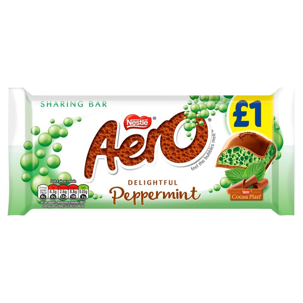 Aero Peppermint Mint Chocolate Sharing Bar 90g