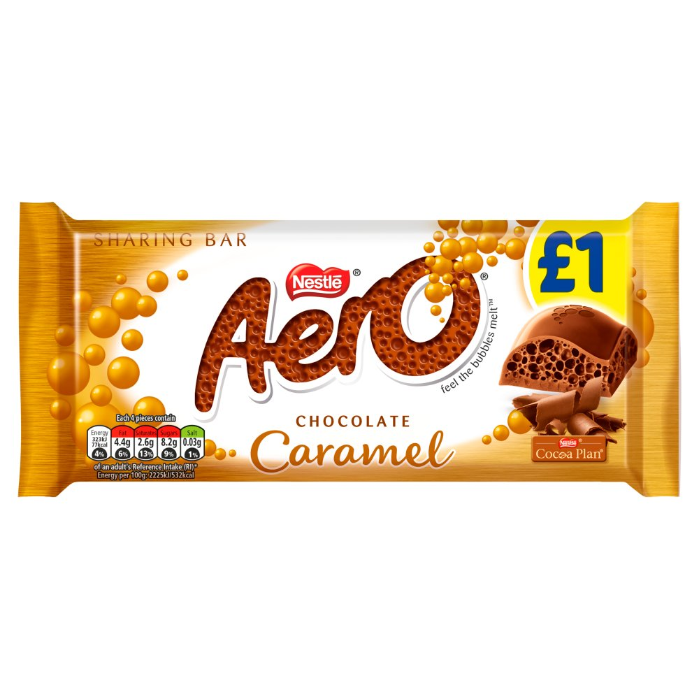 Aero Caramel Chocolate Sharing Bar 90g
