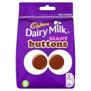 Cadbury Dairy Milk Giant Buttons Chocolate Bag 119g