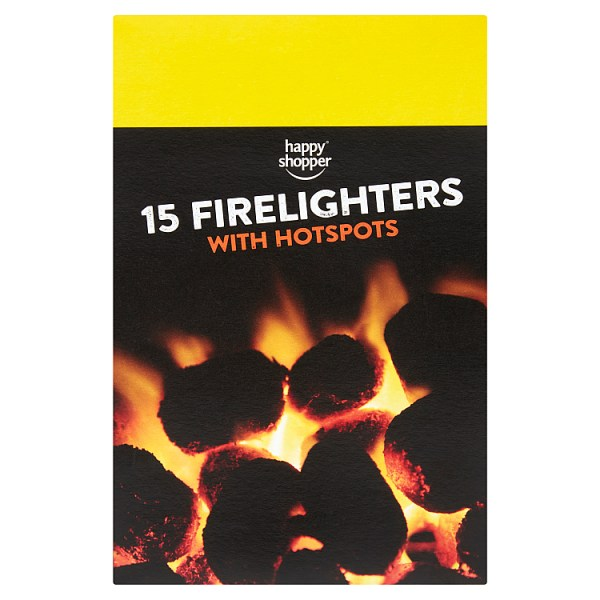 Happy Shopper 15 Firelighters with Hotspots 200g