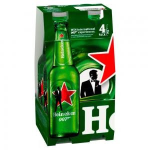 Heineken Lager Beer 4 x 330ml Bottles