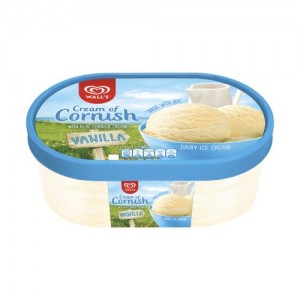 Wall's Cream of Cornish Vanilla Ice Cream Dessert 1000ml