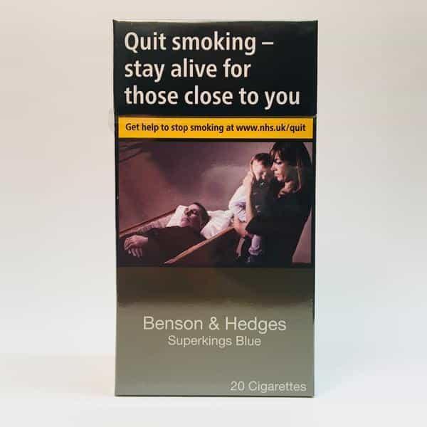 Benson & Hedges Superkings Blue Cigarettes