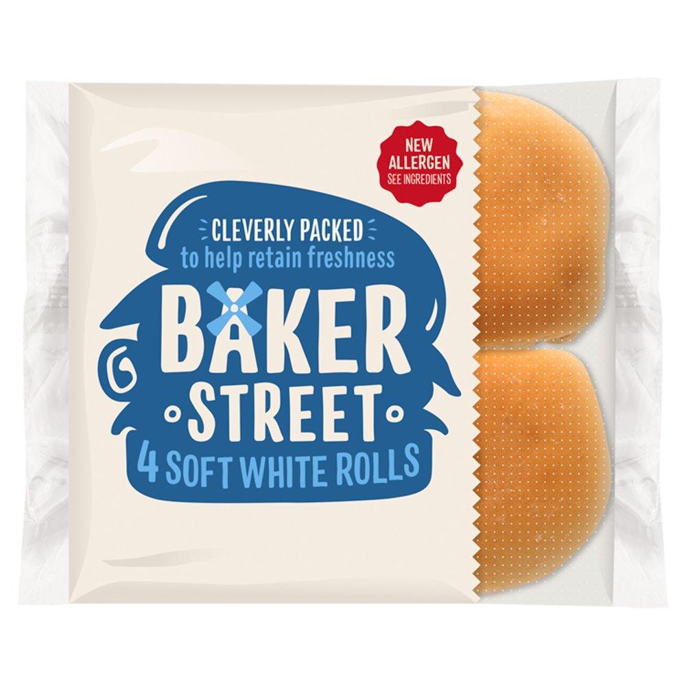 Baker Street 4 Soft White Bread Rolls