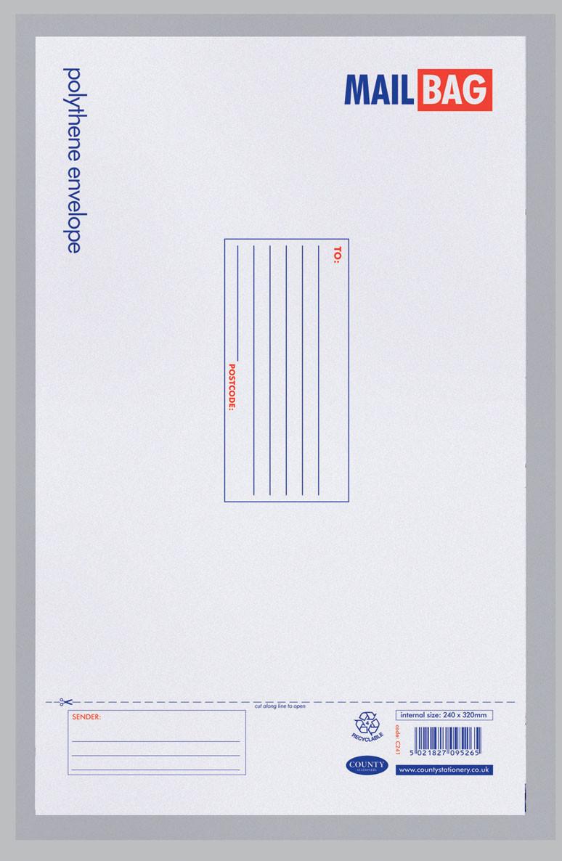 County Mail Bag 24cm x 32cm (Single)