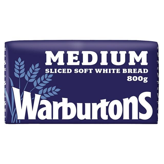 Warburtons Medium Sliced White Bread 800G (Blue)