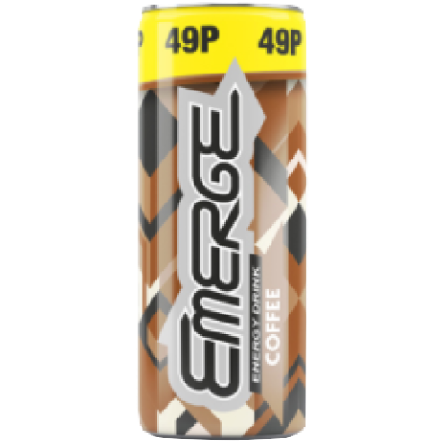 (Four for £1) Emerge Energy Drink Coffee Can 250ml