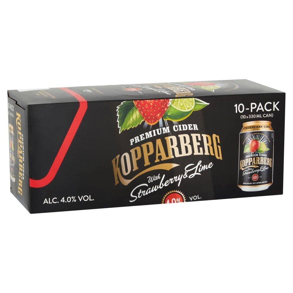 Kopparberg Premium Cider with Strawberry & Lime 10 x 330ml