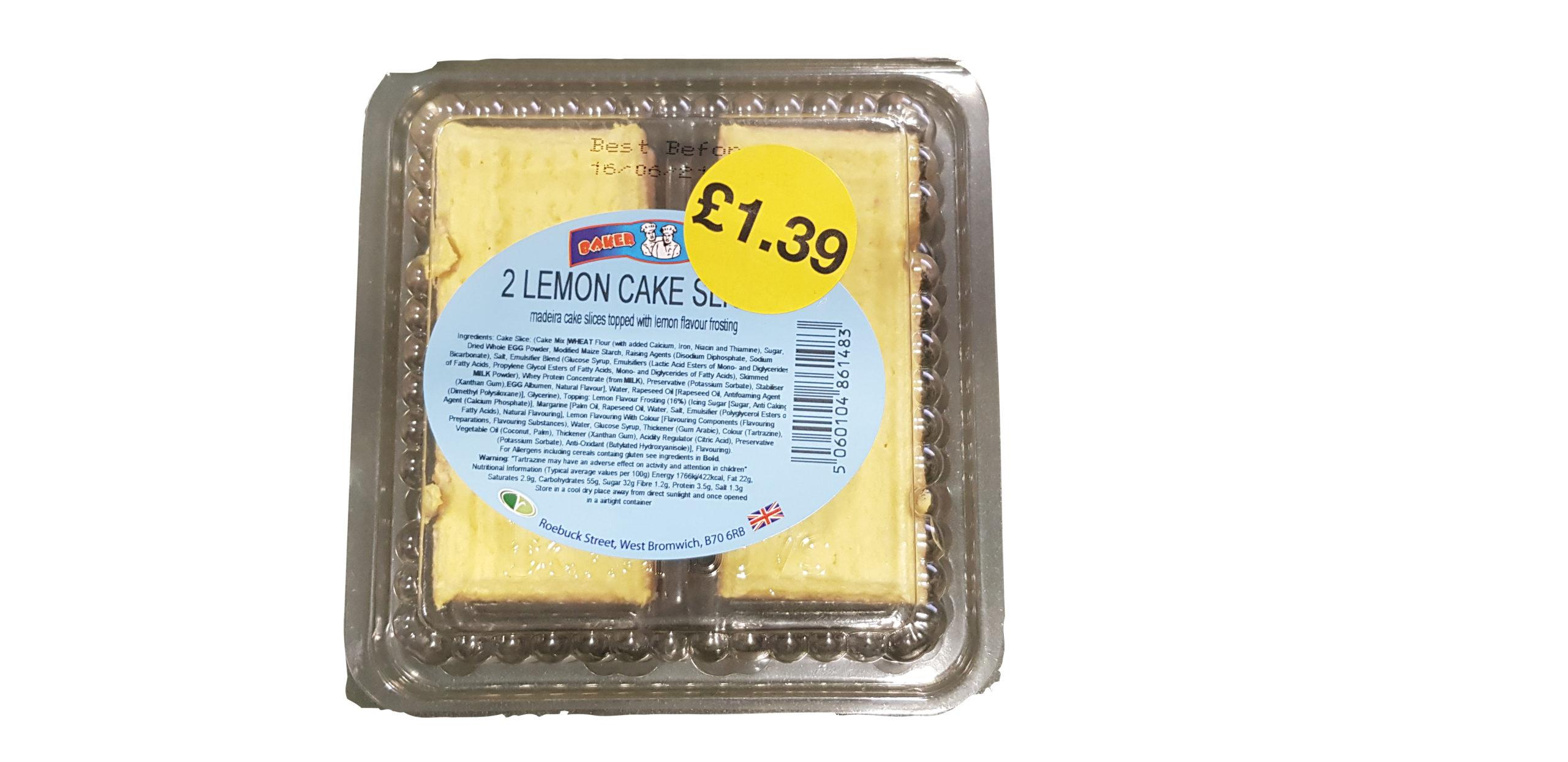 Baker Boys 2 Lemon Cake Slices