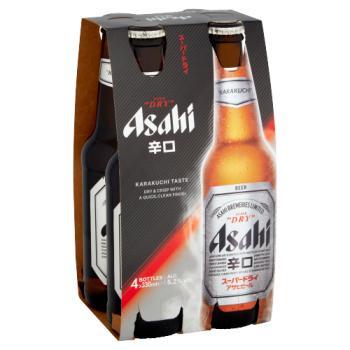 Asahi Super Dry Beer 4 x 330ml