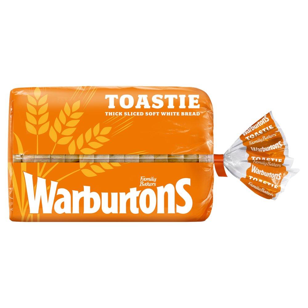 Warburtons Toastie Thick Sliced White Bread 400g (Orange)