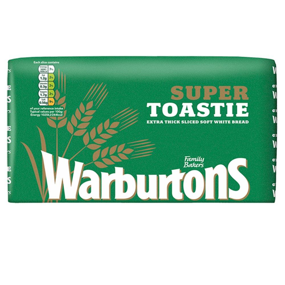 Warburtons Super Toastie White Bread 800g (Green)